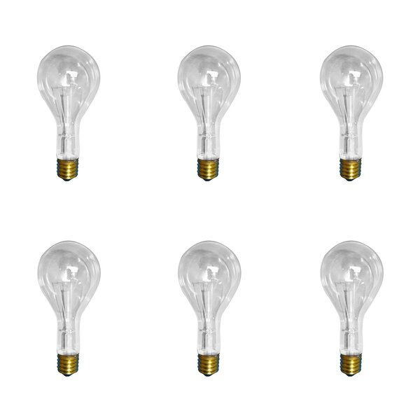 300W E26 Dimmable Incandescent Light Bulb (Set of 6) by Bulbrite Industries