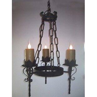 Gothic chandelier wayfair gothic 3 light wagon wheel chandelier mozeypictures Gallery