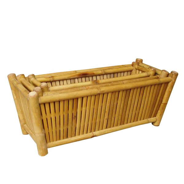 Decorative Container 3-Piece Bamboo Planter Box Set by ZEW Inc