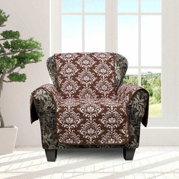 Ardie Damask Box Cushion Armchair Slipcover By Ophelia & Co.
