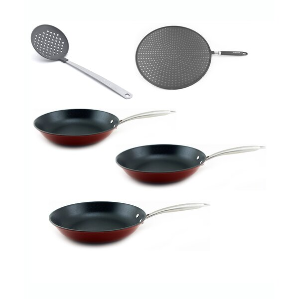 Light Cast Iron 6 Piece Non-Stick Frying Pan Set by BergHOFF International