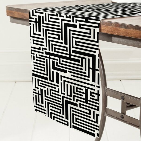 Meander Table Runner by East Urban Home