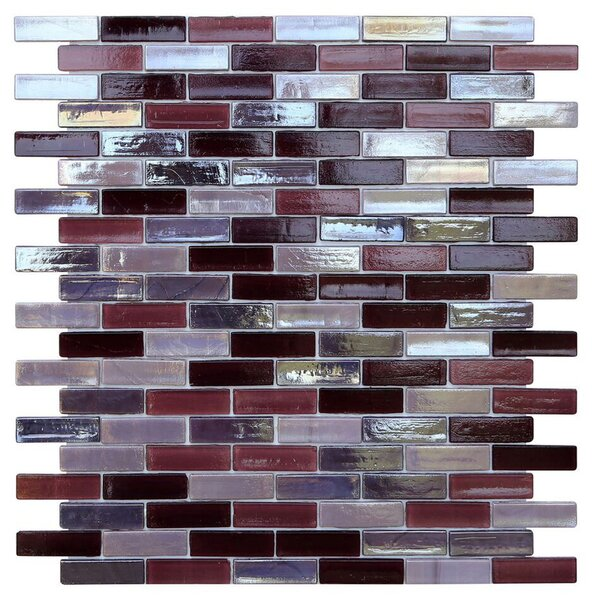 Opal 0.63 x 1.88 Glass Mosaic Tile in Sugar Plum by Kellani