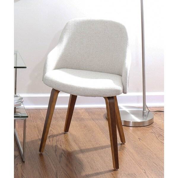 Brighton Mid-Century Modern Upholstered Dining Chair by George Oliver