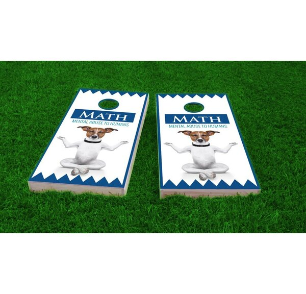 Math Dog Cornhole Game Set by Custom Cornhole Boards