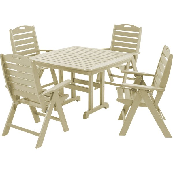 Nautical 5-Piece Dining Set by POLYWOOD®