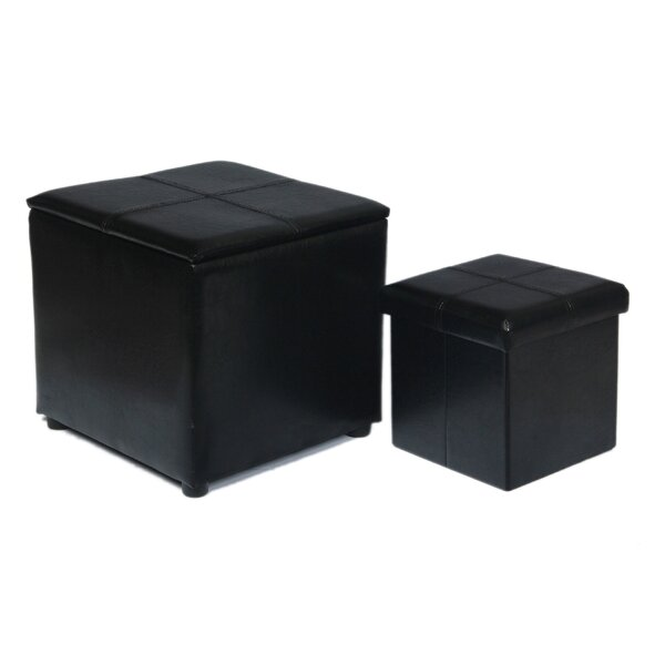 2 Piece Storage Ottoman Set by Attraction Design Home