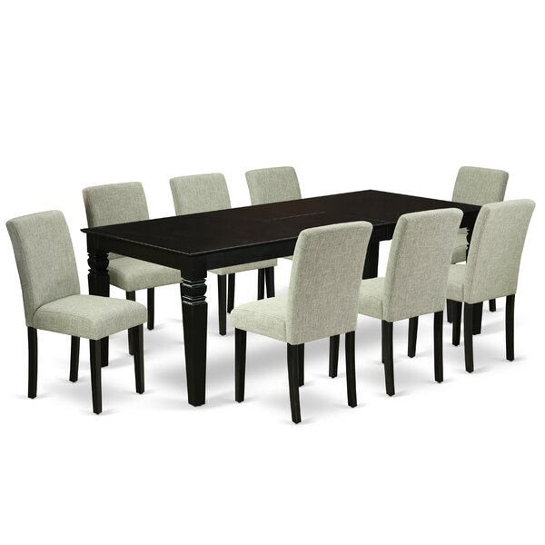 Sousanna 9 Piece Extendable Solid Wood Dining Set by Winston Porter Winston Porter