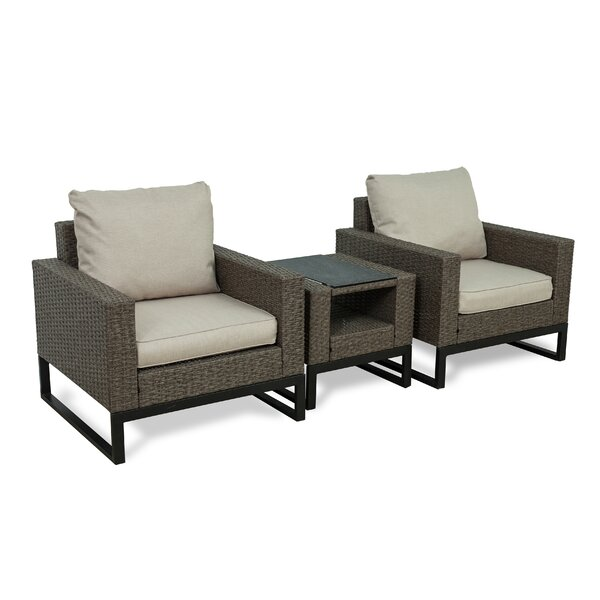 Bawden 3 Piece Seating Group with Cushions by Gracie Oaks