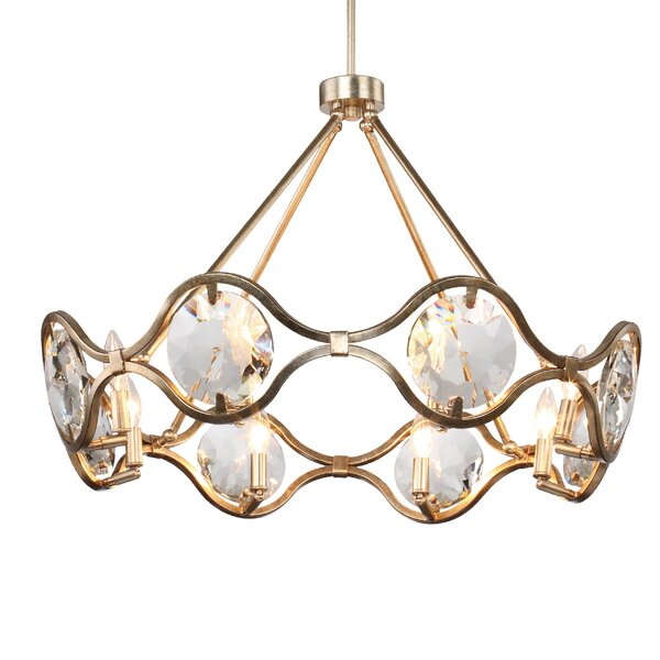 Geil 8 - Light Candle Style Geometric Chandelier By Everly Quinn
