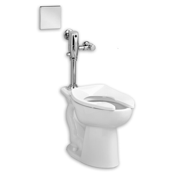 Madera System Selectronic Exposed AC Flush Valve 1.28 GPF Elongated One-Piece Toilet by American Standard