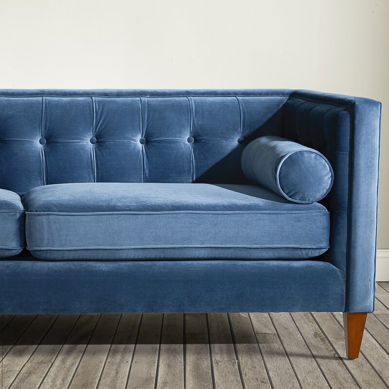 Harcourt Tufted Chesterfield Sofa in Teal& Reviews AllModern