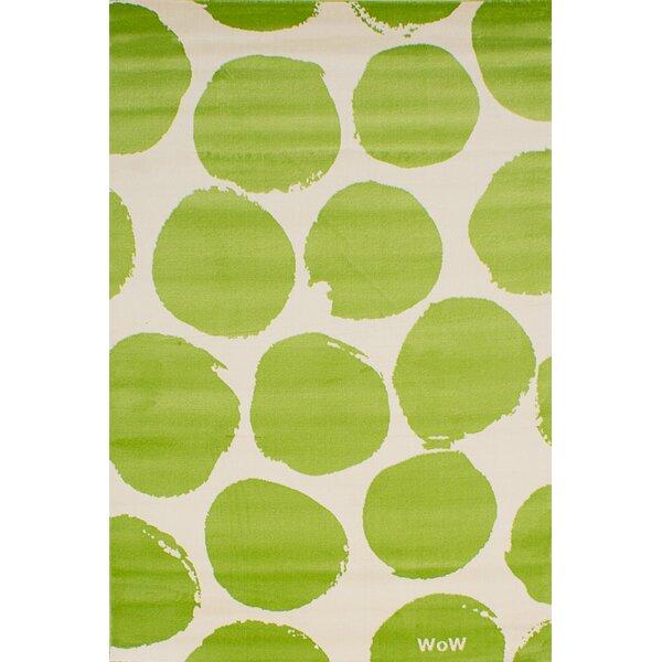 Leeper Cream/Light Green Area Rug by Latitude Run
