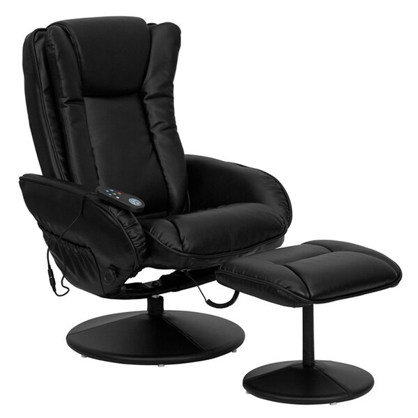 Bret Power Swivel Recliner with Ottoman by Latitude Run