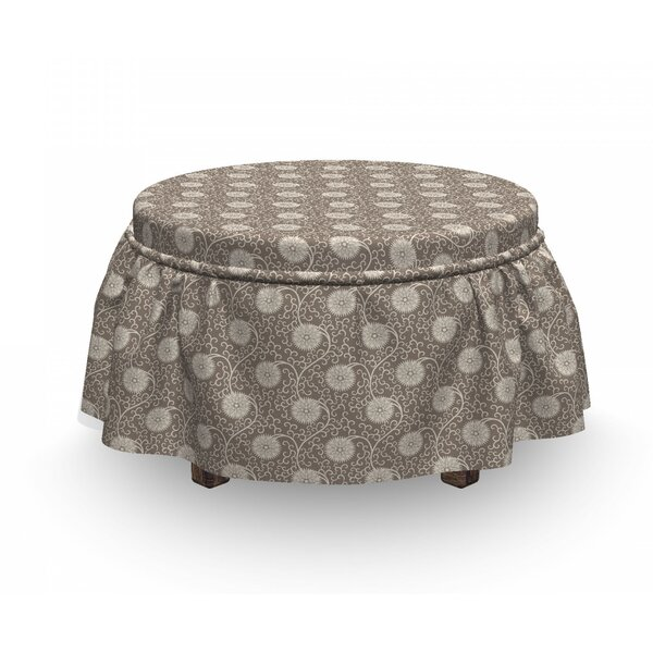 Floral Ottoman Slipcover (Set Of 2) By East Urban Home