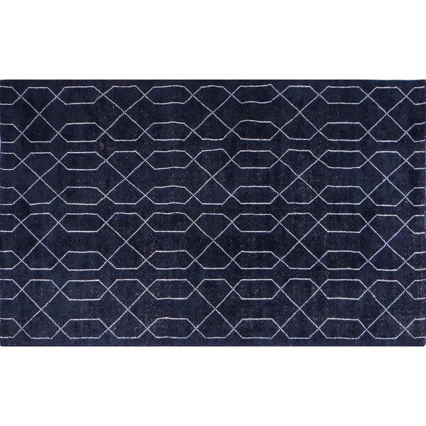Seda Dark Blue Area Rug by Orren Ellis