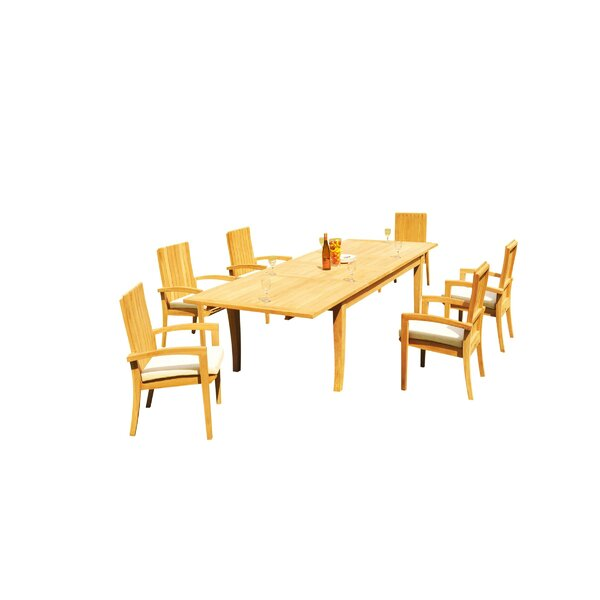 Masson 7 Piece Teak Dining Set By Rosecliff Heights by Rosecliff Heights Read Reviews