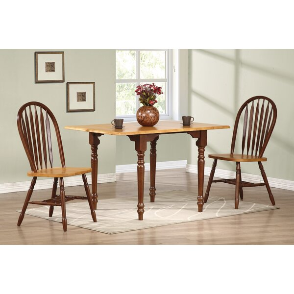 Gonzalez 3 Piece Drop Leaf Solid Wood Dining Set by Rosalind Wheeler Rosalind Wheeler