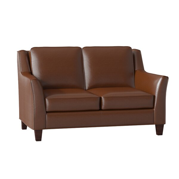 Barnes Leather Loveseat by Bradington-Young