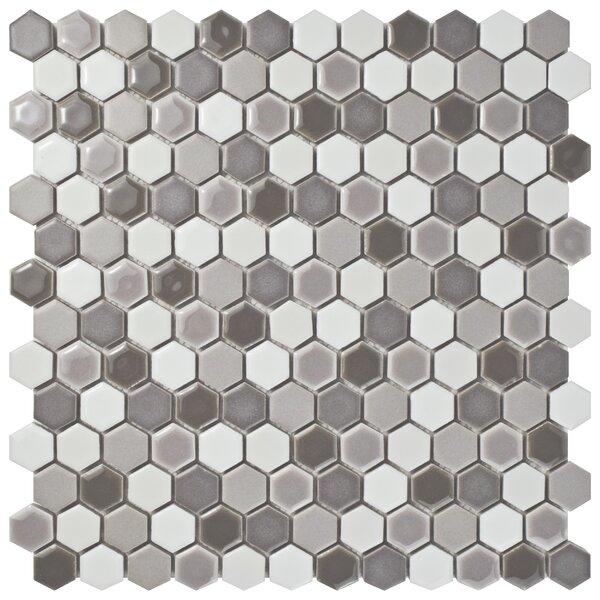 Astraea Hex 0.9 x 1.01 Porcelain Mosaic Tile in Luna by EliteTile