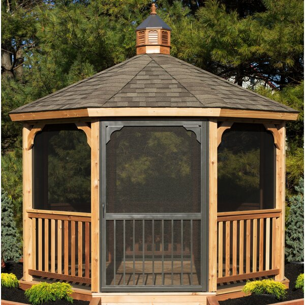 Screen Kit for 12 ft Octagon Gazebo by YardCraft