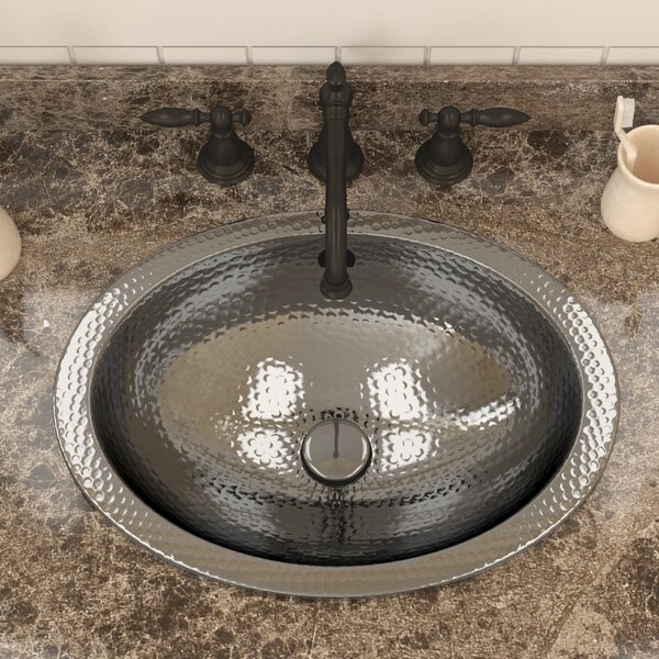 Kingsmen Series Metal Oval Drop-In Bathroom Sink by ANZZI