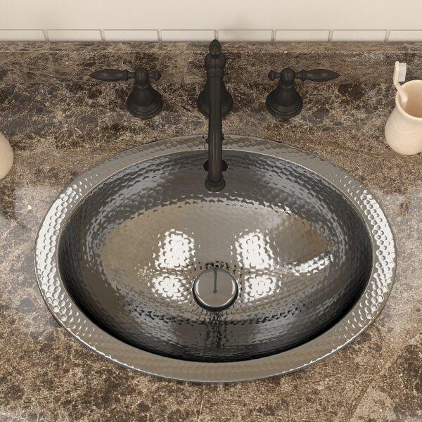 Kingsmen Series Metal Oval Drop-In Bathroom Sink b