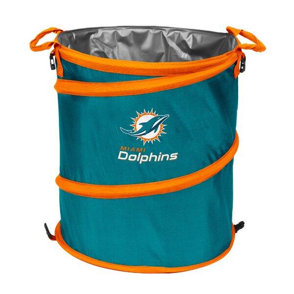 NFL Collapsible 13 Waste Basket by Logo Brands