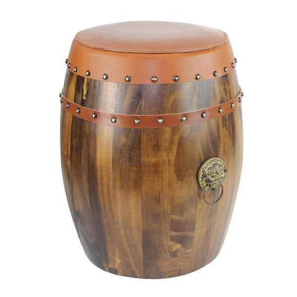 Sackman Hand Craft Leather Wood Garden Stool by Millwood Pines