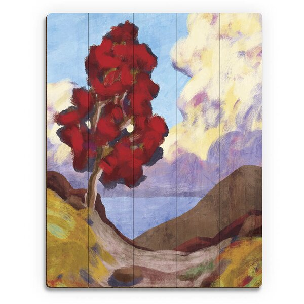 Trail to the Ocean Tree Sky Painting Print on Plaque by Click Wall Art