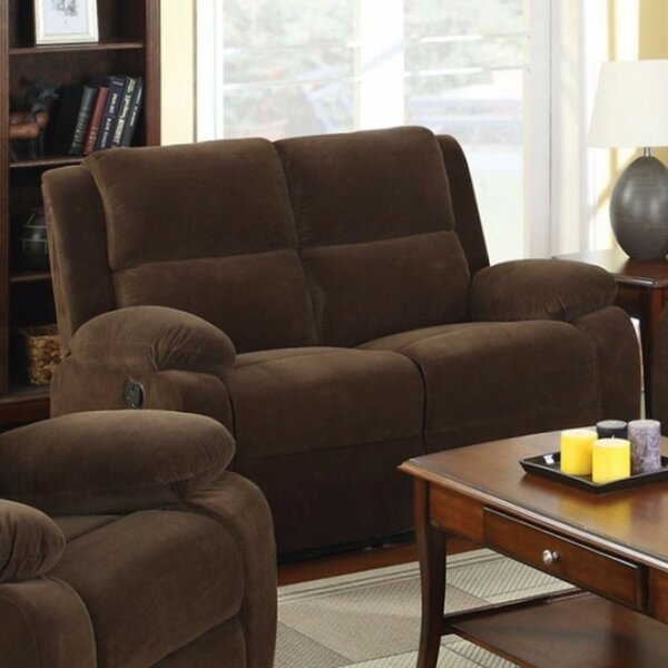 Get Name Brand Gontarz Flannelette Reclining Loveseat Snag This Hot Sale! 70% Off