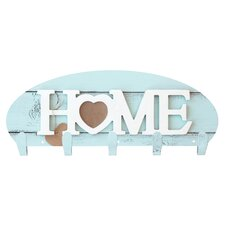 Home Heart 5 Hook Wall Mounted Coat Rack by Next Innovations