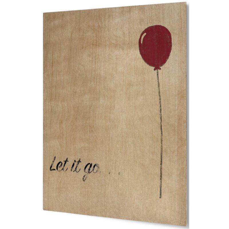 Andover Mills \'Let it Go\' Wall Art on Plaque & Reviews | Wayfair