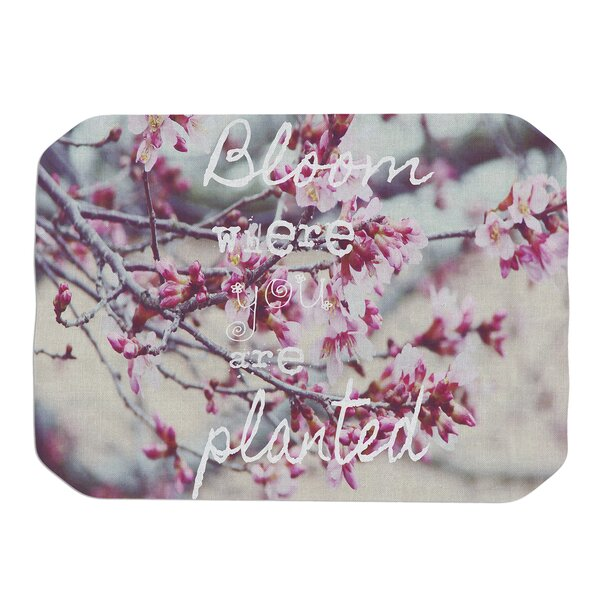 Bloom Pink Placemat by KESS InHouse