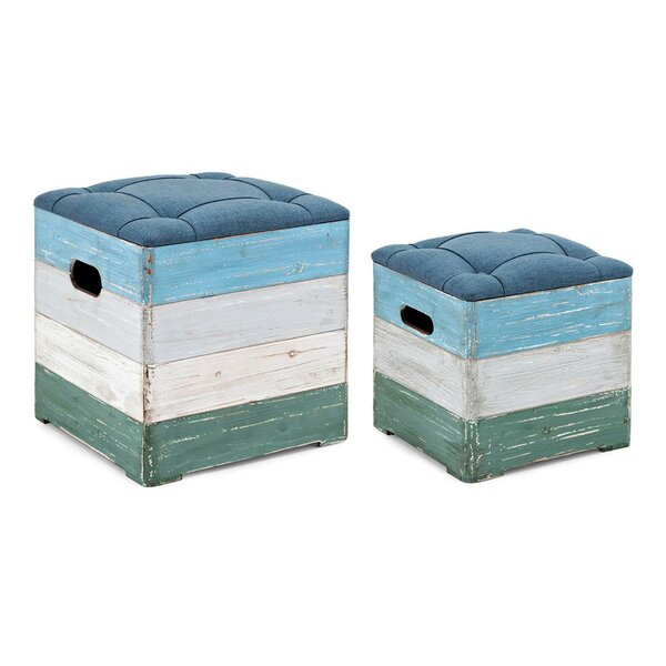 Nanette Tufted 2 Piece Cube Ottoman by Highland Dunes