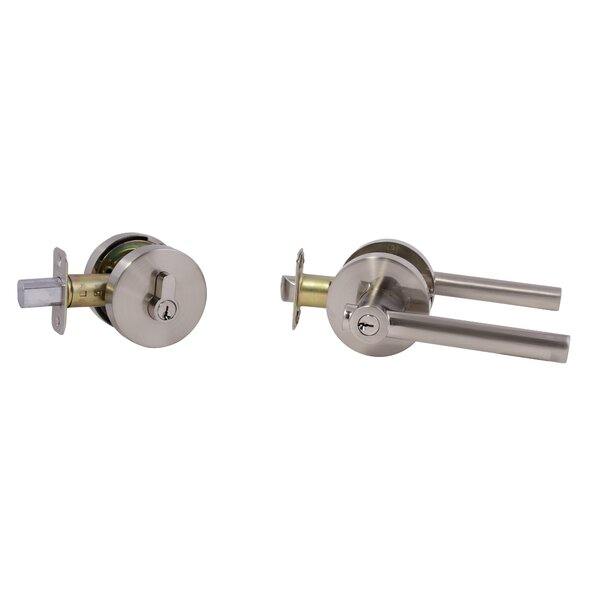 Eastport Entry Single Cylinder Lever Combo Pack with Interior Knob by Design House