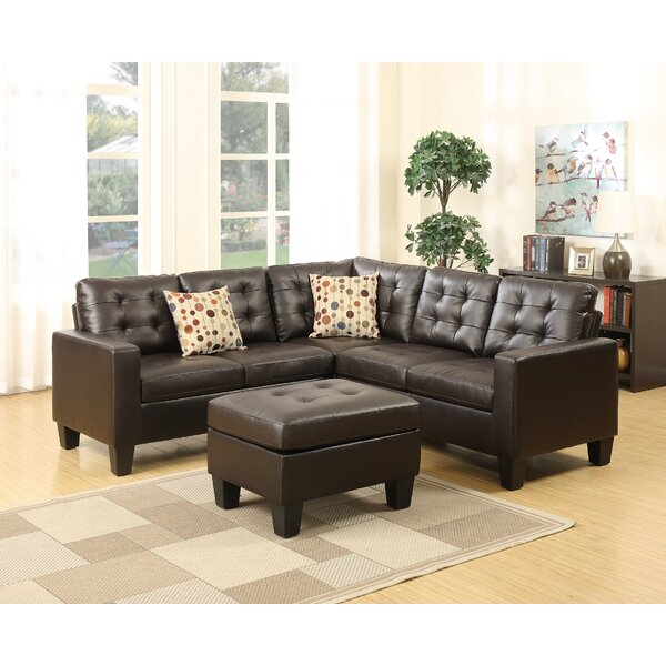 Karsyn Symmetrical Sectional with Ottoman by Winston Porter