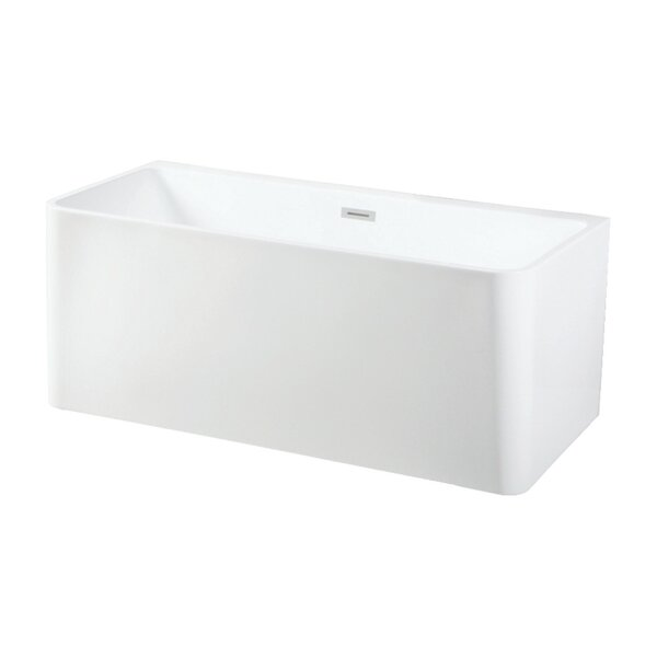 Aqua Eden Square Acrylic 59 x 28 Freestanding Soaking Tub by Kingston Brass
