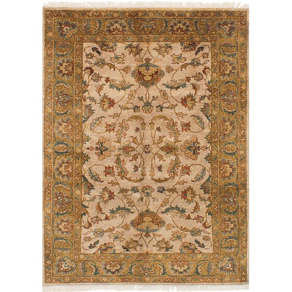 One-of-a-Kind Kenmar Hand-Knotted Wool Light Gray Area Rug by Darby Home Co