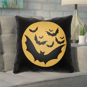 Alviva Bats Indoor/Outdoor Throw Pillow