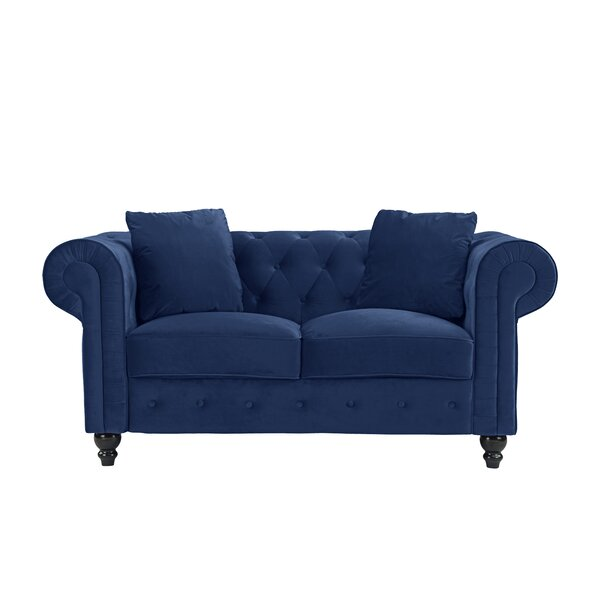 Mayor Chesterfield Loveseat by House of Hampton