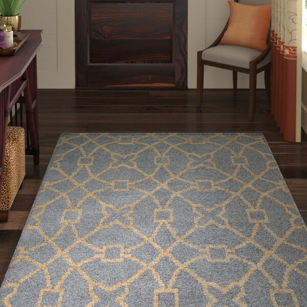 Amityville Hand-Woven Slate/Natural Area Rug by World Menagerie