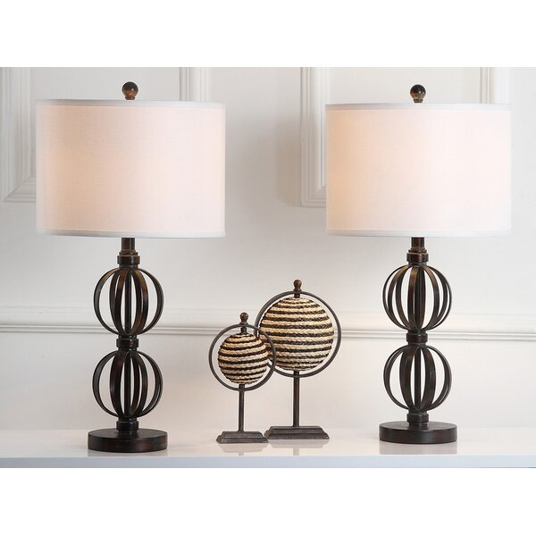 Hayden Double Sphere 27.75 Table Lamp (Set of 2) by World Menagerie