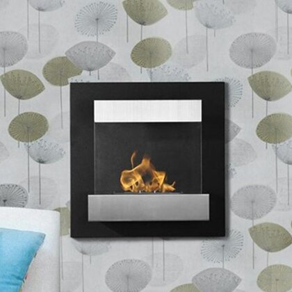 Esparza Ventless Wall Mounted Bio-Ethanol Fireplace by Ebern Designs
