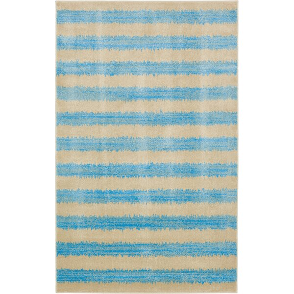 Travis Traditional Blue/Beige Area Rug by Viv + Rae
