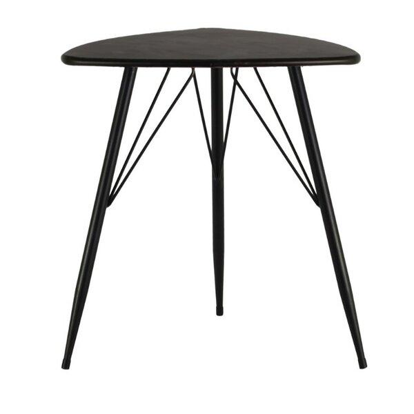 Dowe Metal Triangular End Table by Ivy Bronx