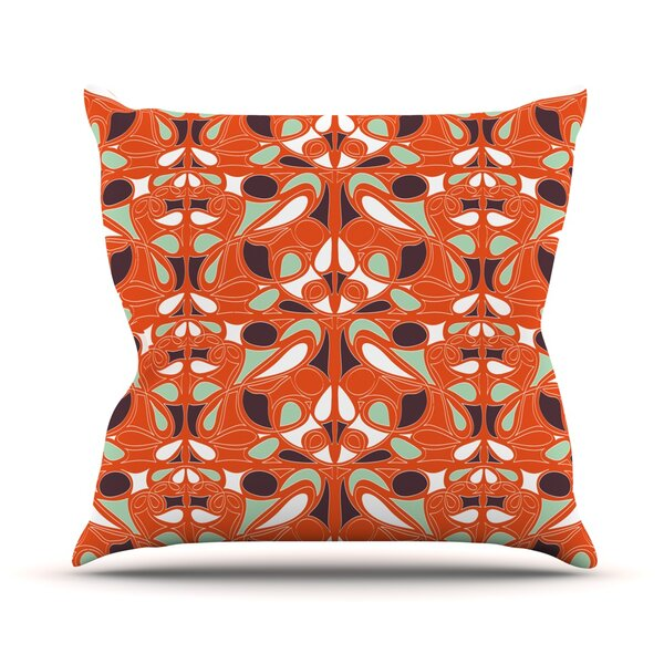 Swirl Kiss by Miranda Mol Outdoor Throw Pillow by East Urban Home