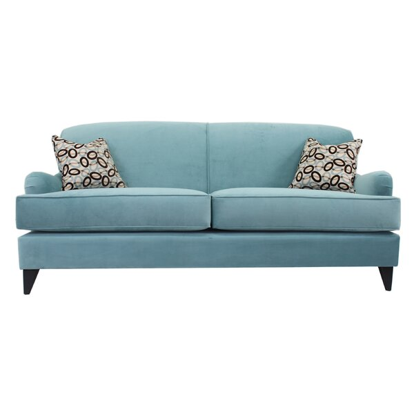 Cotton 83-inch W Square Arm Sofa by Poshbin Poshbin