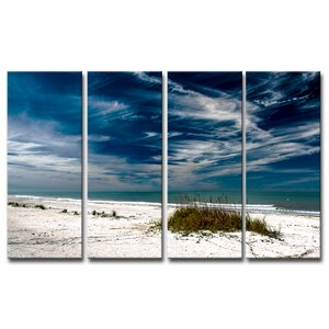 'Silent Beach' by Bruce Bain 4 Piece Photographic Print on Canvas Set by Ready2hangart