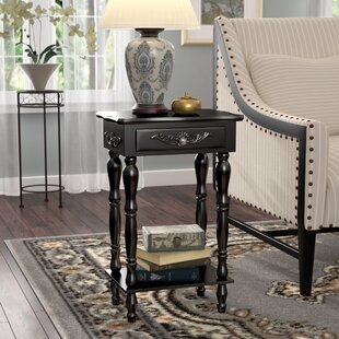 Isabella Carved End Table